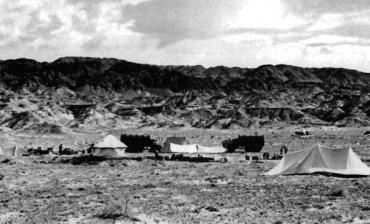 Imagen de uno de los campamentos de las expediciones paleontológicas polaco-mongolas en el Gobi