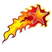 36347040-una-imagen-de-una-estrella-fugaz-en-llamas