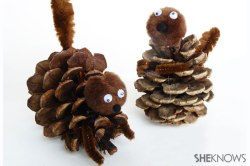 pine-cone-squirrel-craft