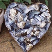Corazón con mejillones