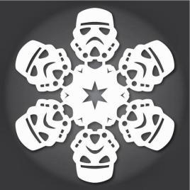 http://es.paperblog.com/copos-de-nieve-de-papel-de-la-guerra-de-las-galaxias-2312499/