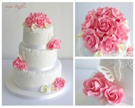 http://es.weddbook.com/media/1987650/pink-roses-and-calla-lilies