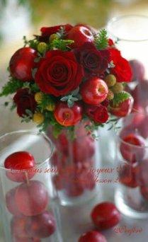 rosas y manzanas