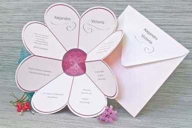 invitacion flor
