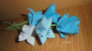 ramo flores azules
