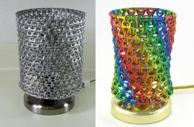 lampara anillas latas
